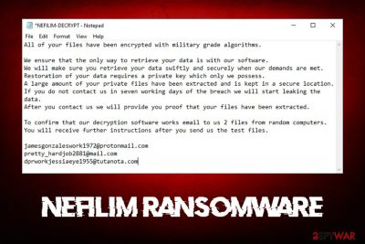 Nefilim ransomware