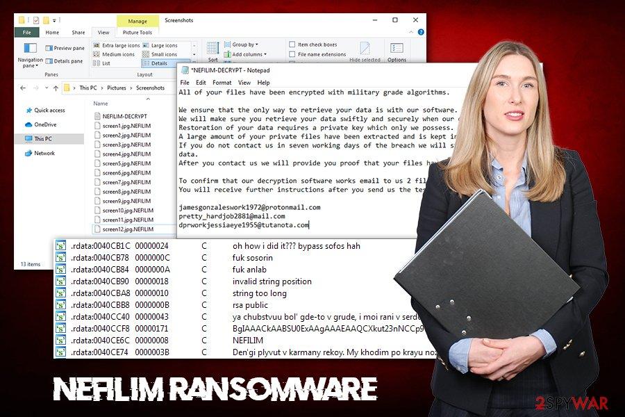 Nefilim ransomware virus