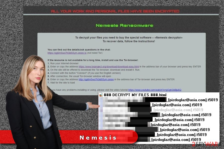 The example of Nemesis ransomware