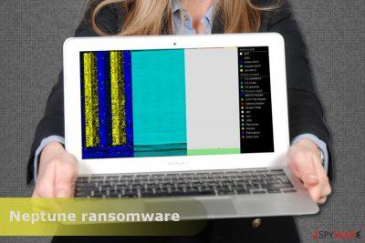 The image of Neptune ransomware virus