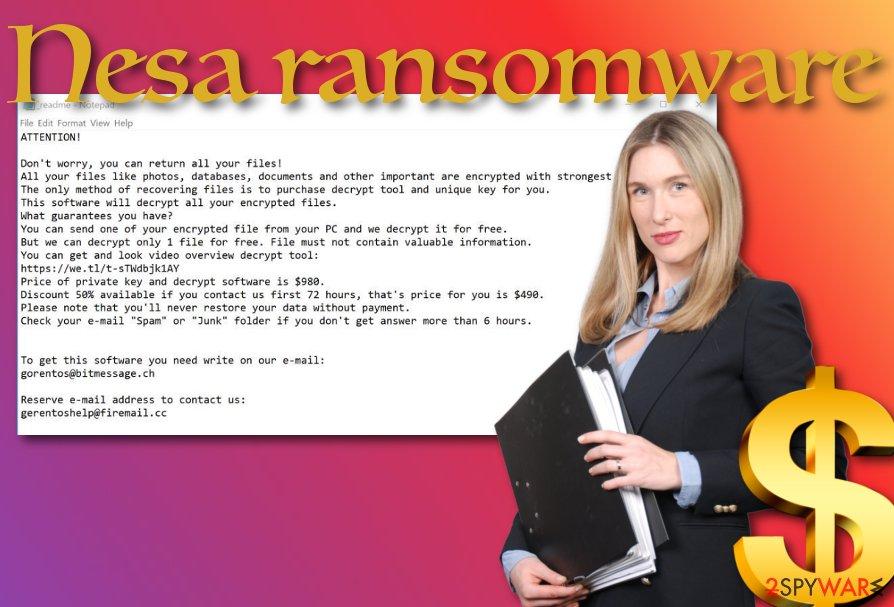 Nesa ransomware