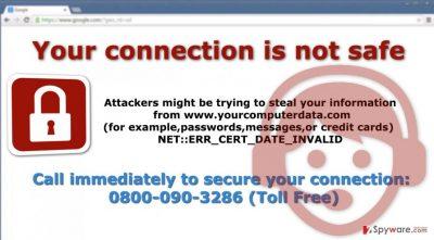 """The example of """"NET::ERR_CERT_DATE_INVALID"""" virus"""