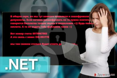 Image of the .Net ransomware virus