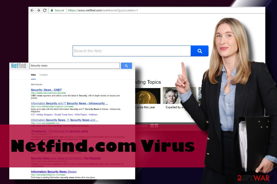 Netfind.com browser hijacker