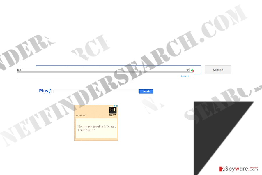 The image displaying Net Finder Search