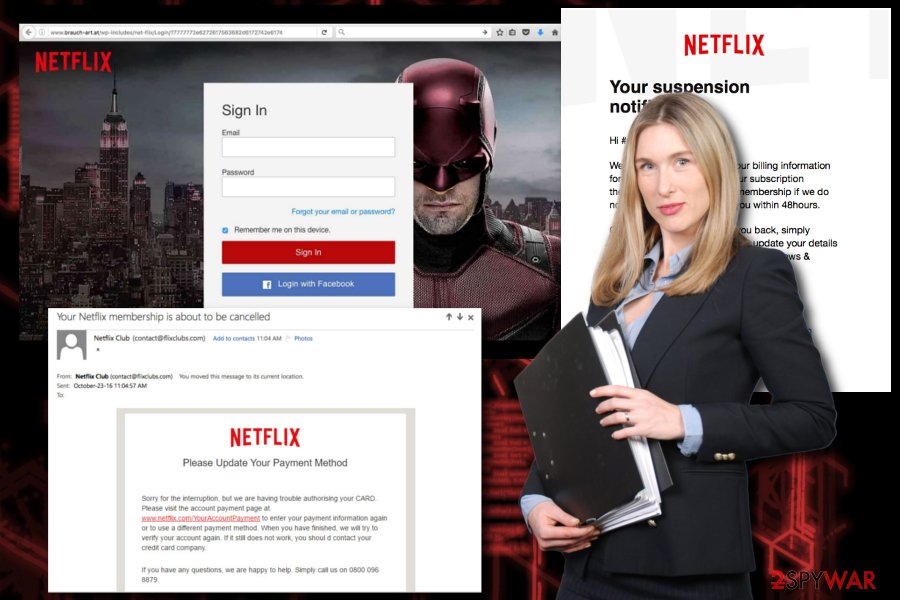 Netflix fake alert