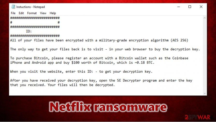 Netflix ransomware