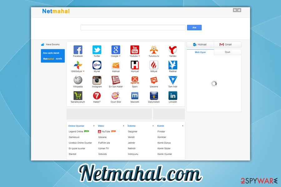 Netmahal.com redirect