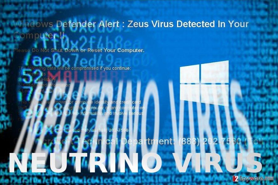 The image displaying Neutrino malware