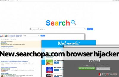 New.searchopa.com redirect virus can lead the computer user to dangerous Internet sites