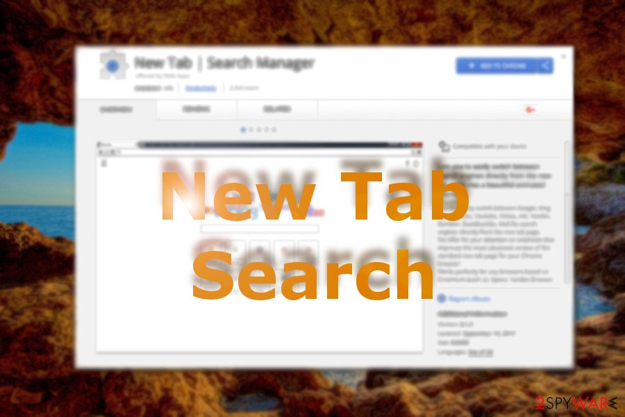 New Tab Search browser hijacker