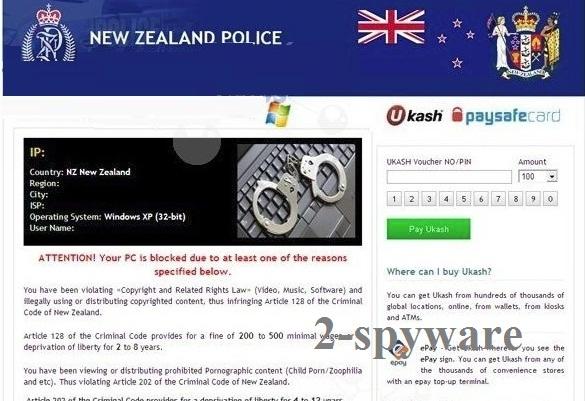 New Zealand Police virus snapshot