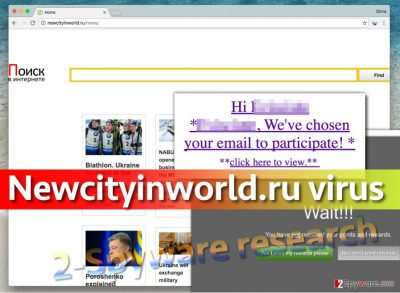 Newcityinworld.ru virus in browser places this URL in homepage settings