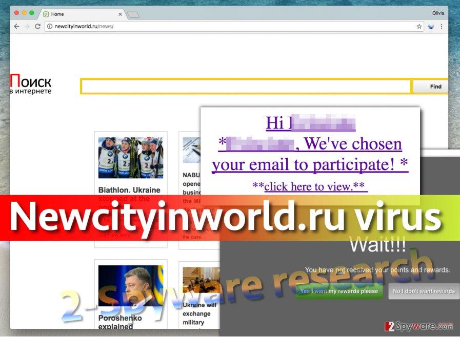 Newcityinworld.ru virus in browser places this URL in homepage settings
