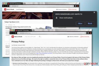 Newsbreak.com virus