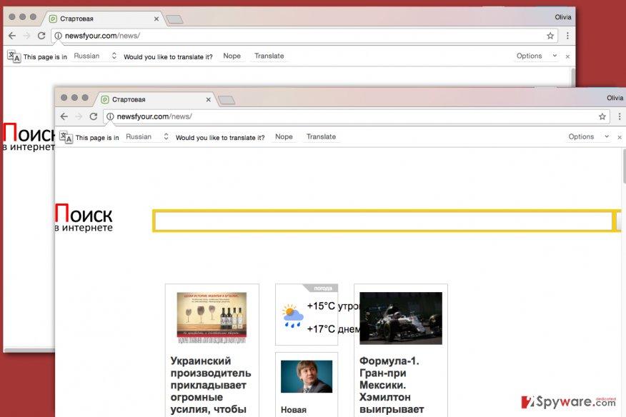 Newsfyour.com virus