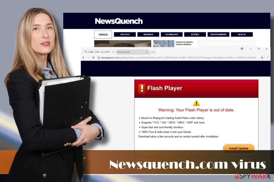 Newsquench.com redirect virus