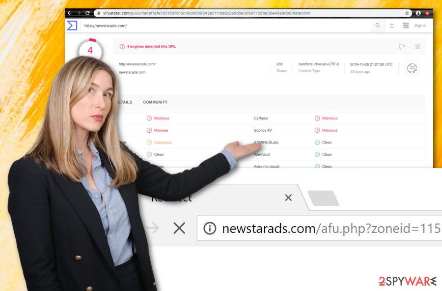 Newstarads.com virus