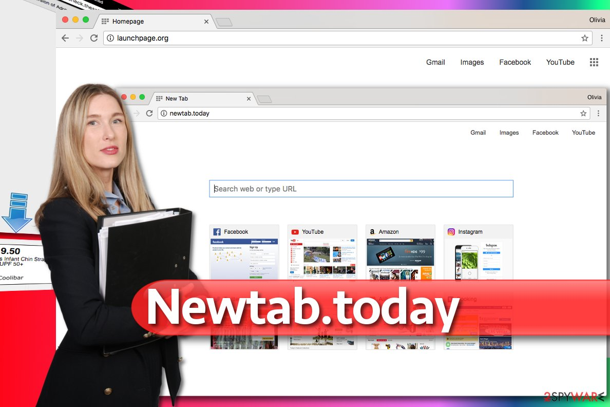 Image of Newtab.today redirect virus