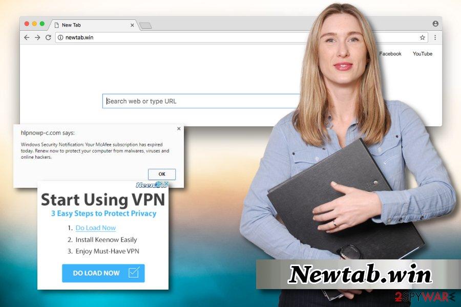 Example of NewTab.win hijacker
