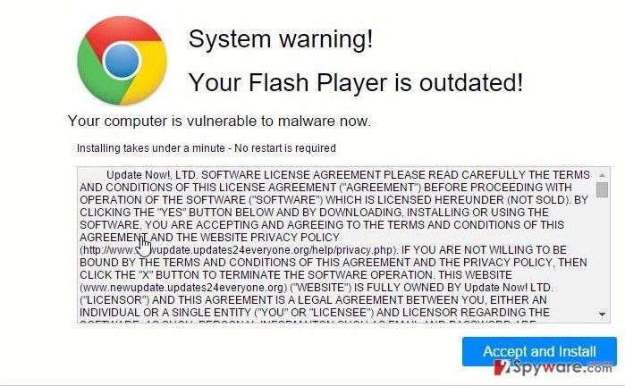 Newupdate.updates24everyone.org virus