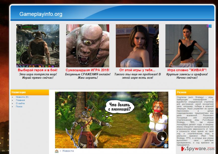 Nextbestgame.org pop-ups