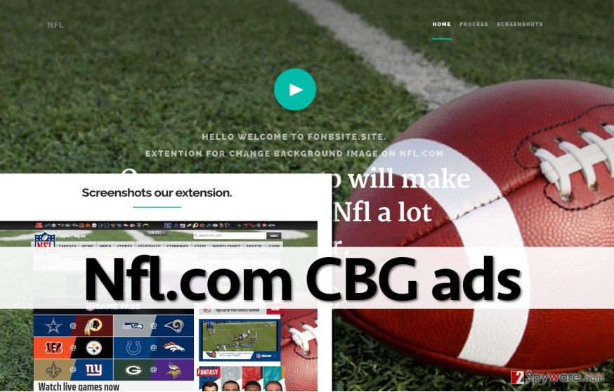Screenshot of Nfl.com CBG ads