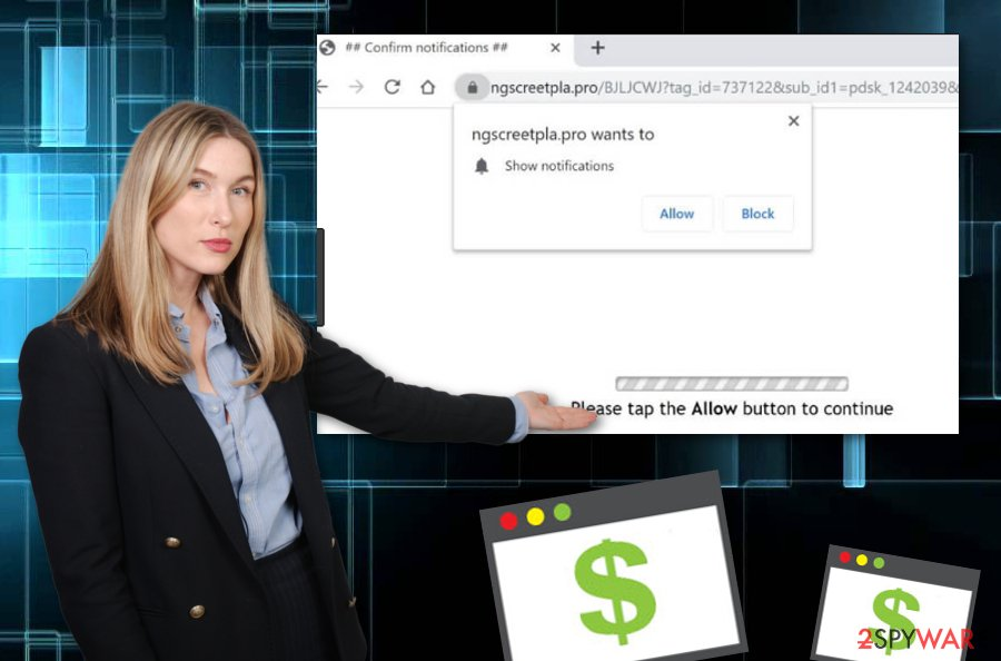 Ngscreetpla.pro ads