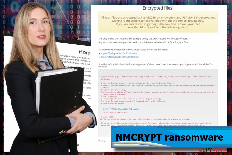 NMCRYPT ransomware printscreens