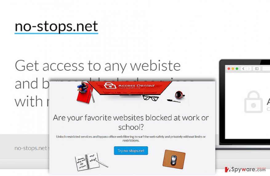 The screenshot of No-stops.net