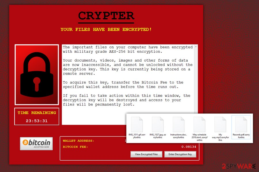 Noblis ransomware .sorryforthis variant