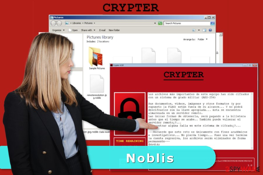 Picture of Noblis ransomware virus