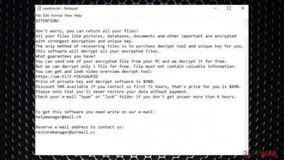 Nobu ransomware
