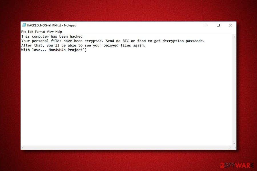Nog4yH4n ransomware