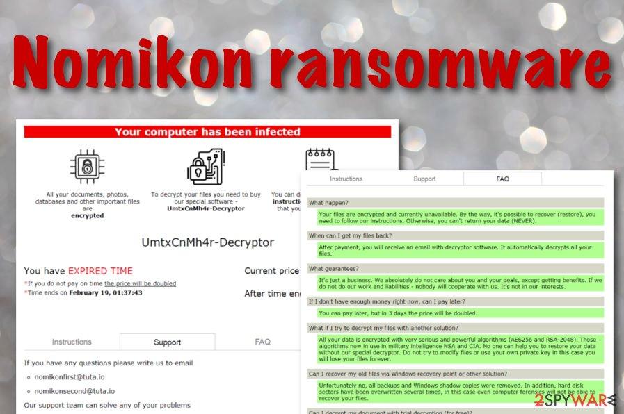Nomikon ransomware virus