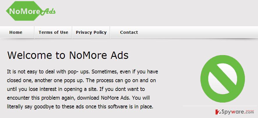 NoMore Ads virus snapshot