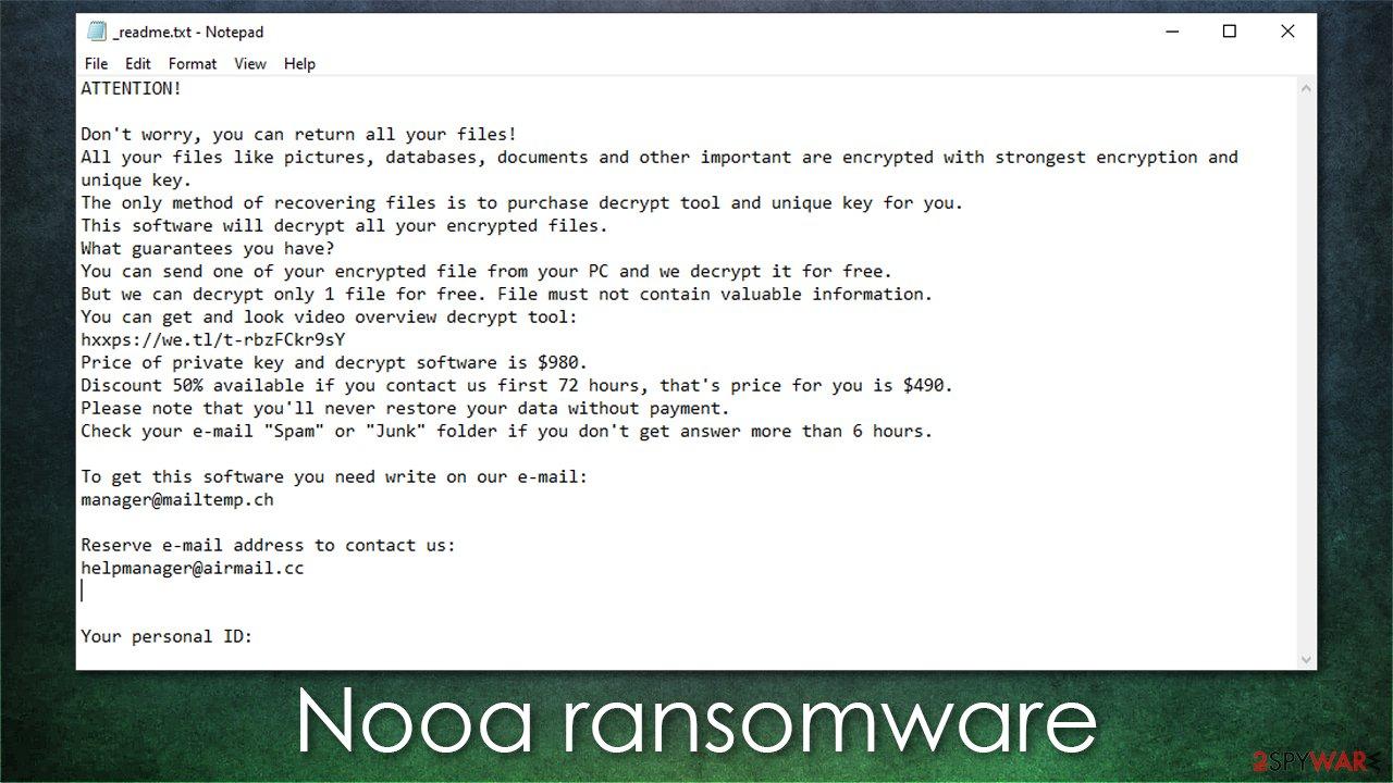 Nooa ransomware