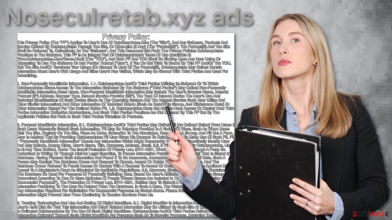 Noseculretab.xyz ads