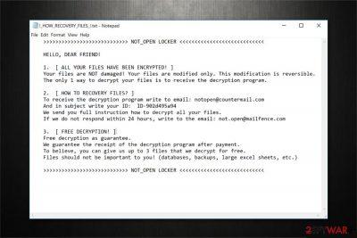 NOT_OPEN LOCKER ransomware image