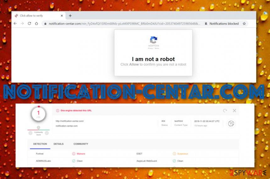 Notification-centar.com adware program