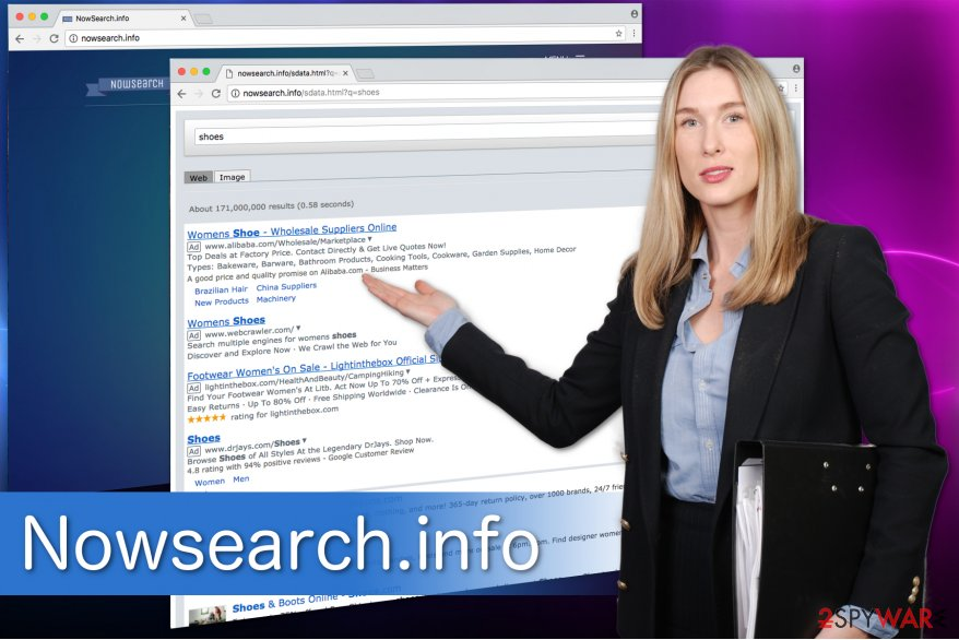 An example of Nowsearch.info search results