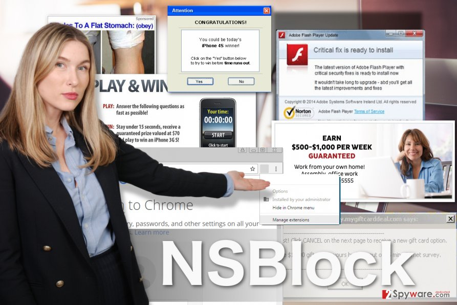 Image of NSBlock adware virus