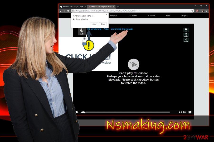 Nsmaking.com push notification virus