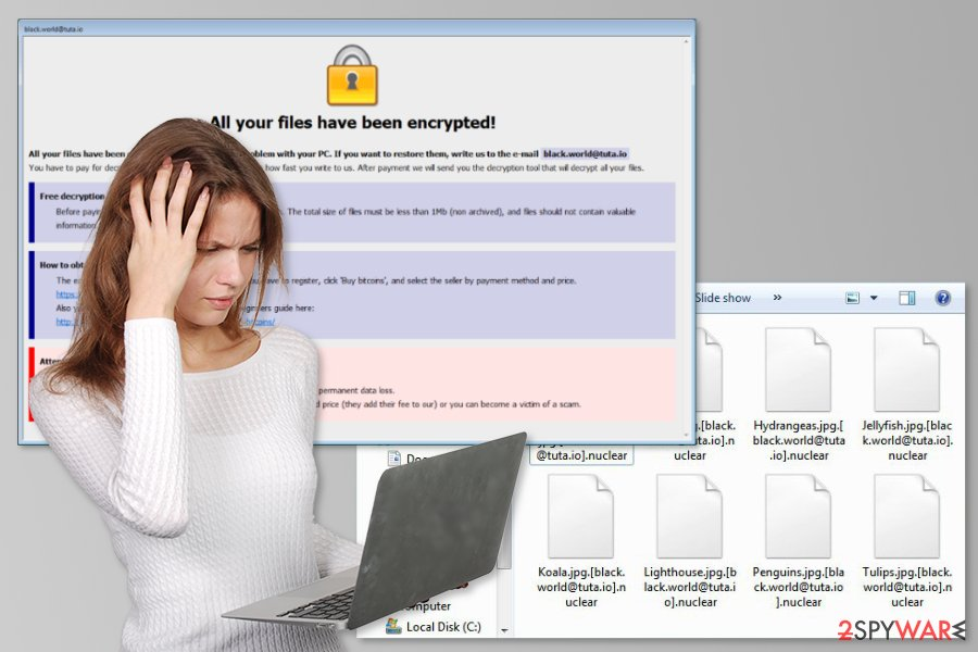 The picture of Nuclear ransomware virus