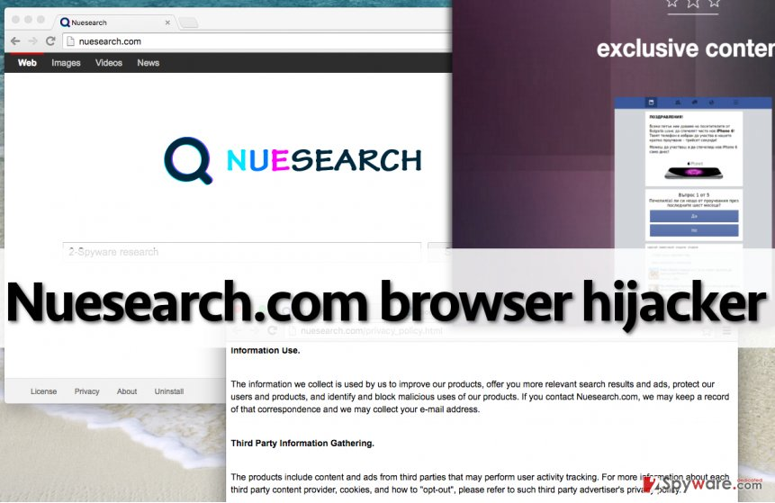 Nuesearch.com hijacker provides unreliable search engine and initiates redirects