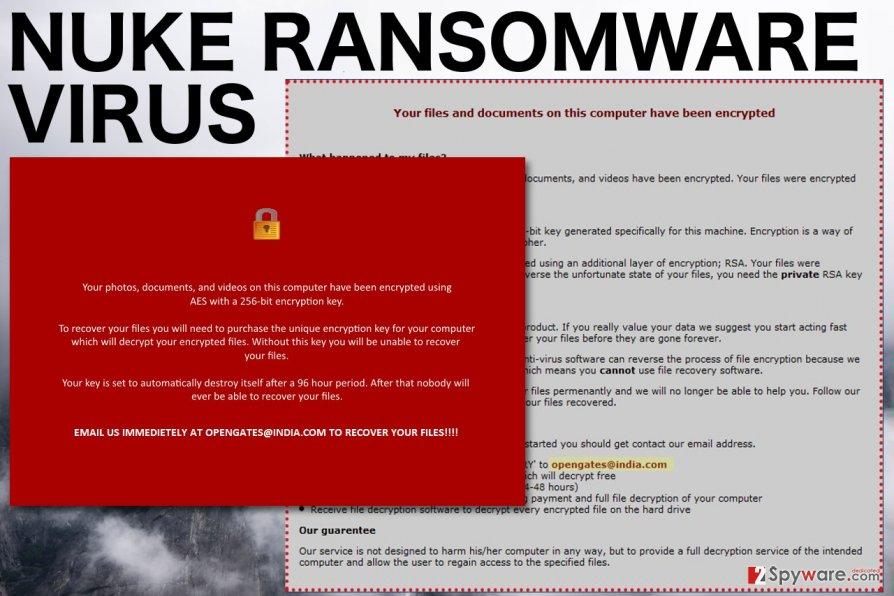 Image of the Nuke ransomware virus