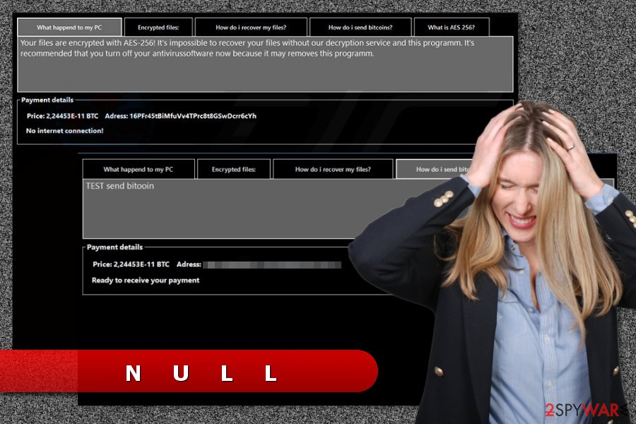 The image of Null ransomware virus