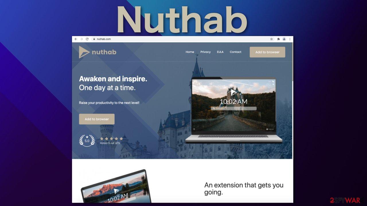 Nuthab browser hijacker