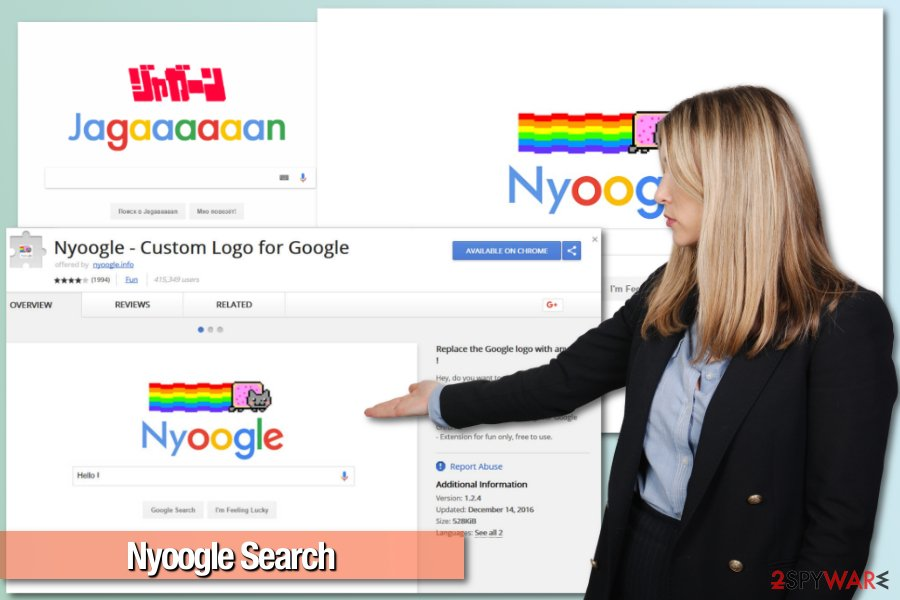 Picture of Nyoogle Search virus