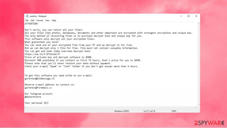 Vpsh ransomware